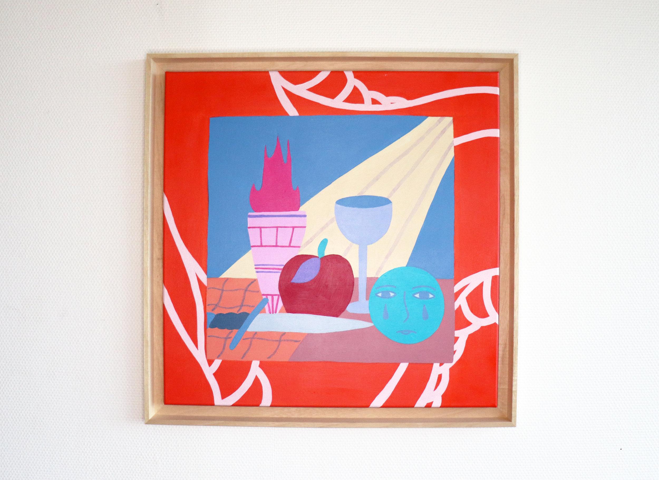 """""""La nature morte"""" - Mixed media on canvas -  60 x 60 cm"""
