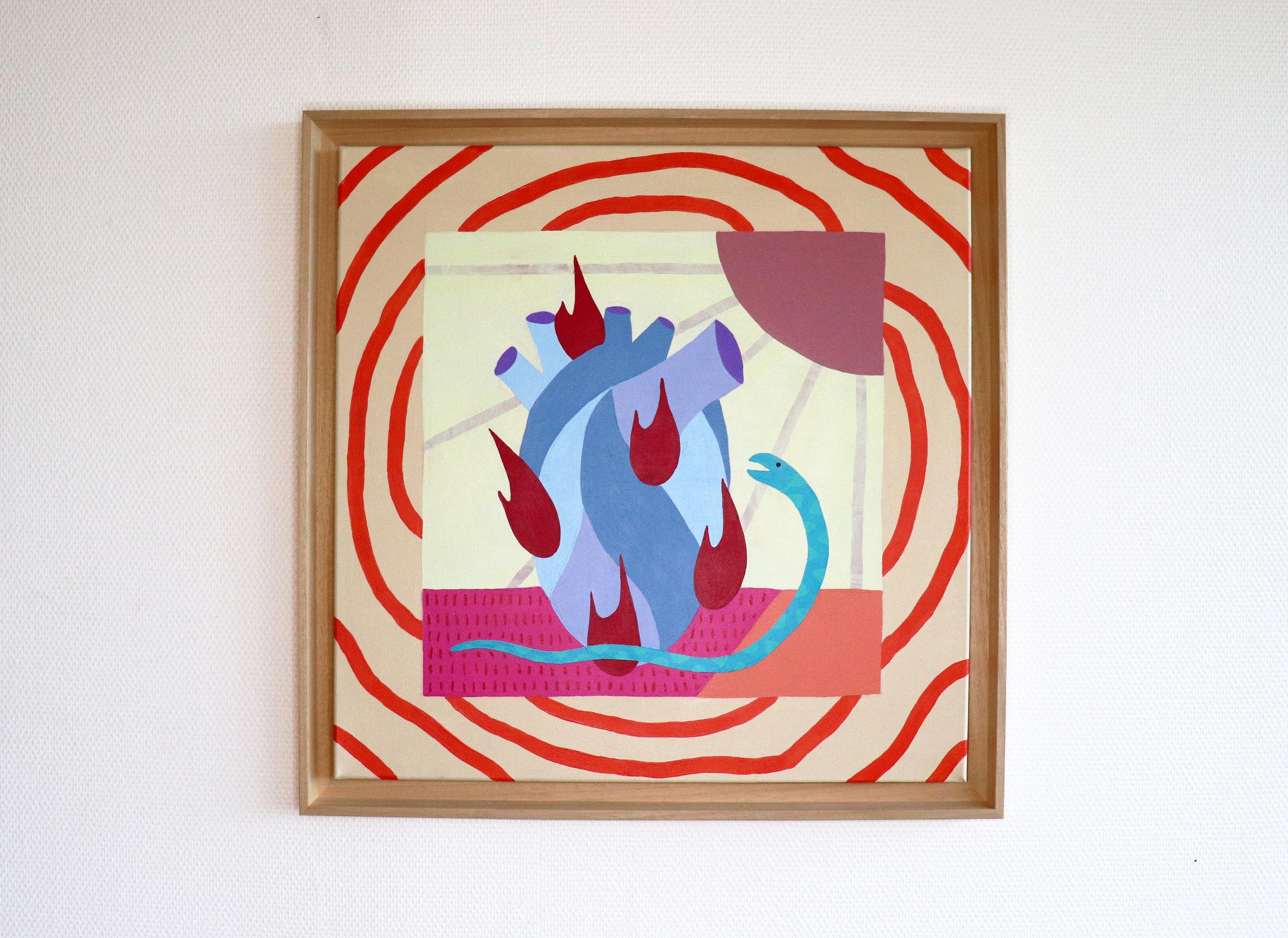 """La passion"" - Mixed media on Canvas - 60 x 60 cm"
