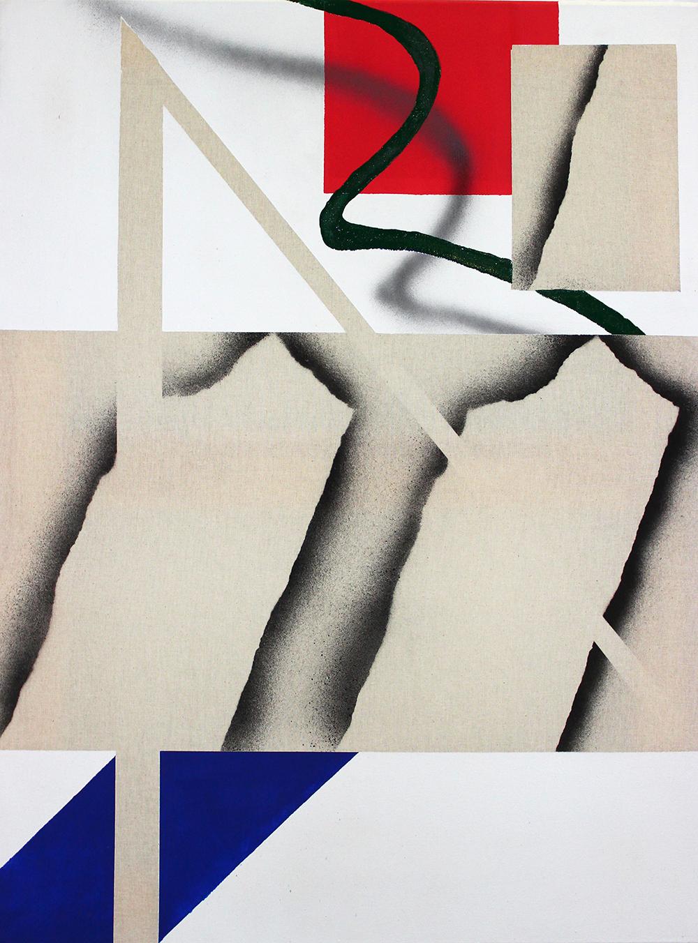 404 - Acrylic, varnish & spray on canvas - 60 x 80 cm - 2018
