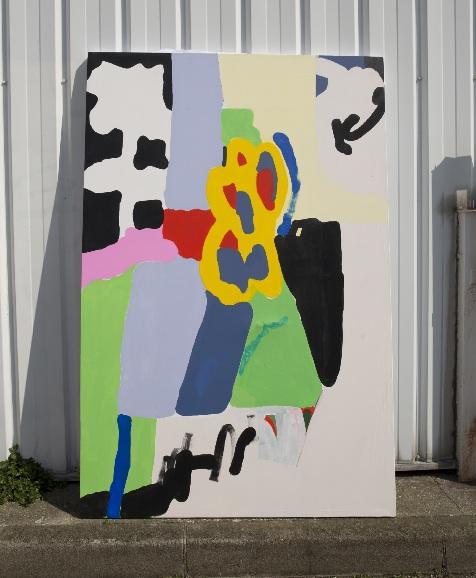 """ En Bord de route "" - Acrylic on canvas - 130 x 195 cm - 2019"