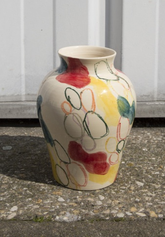 """ Vase d'Ivry I "" - 20cm - Acrylic on ceramic - 2019"