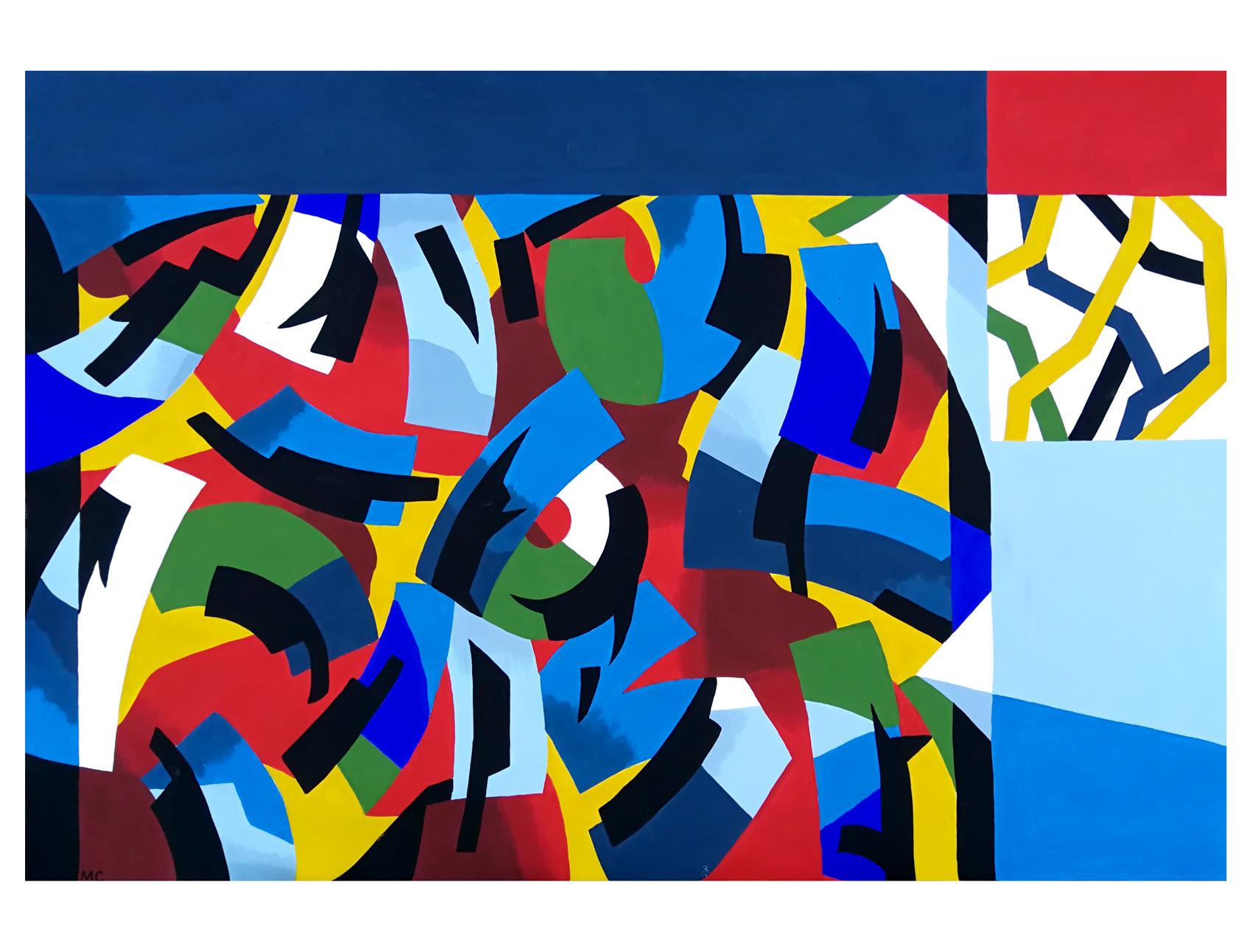 """ Tabula Rasa "" - Gouache on paper - 120 x 80 cm - 2019"