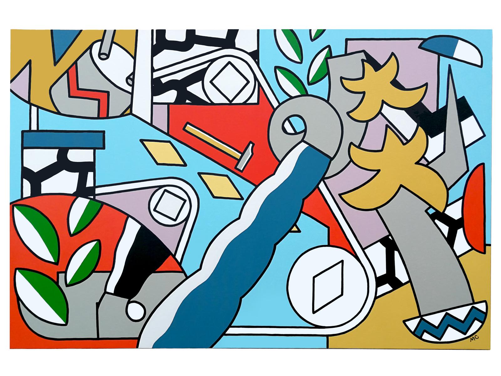 """"""" Le coin d'architecture manquée """" - Acrylic on canvas - 97 x 146 cm - 2019"""