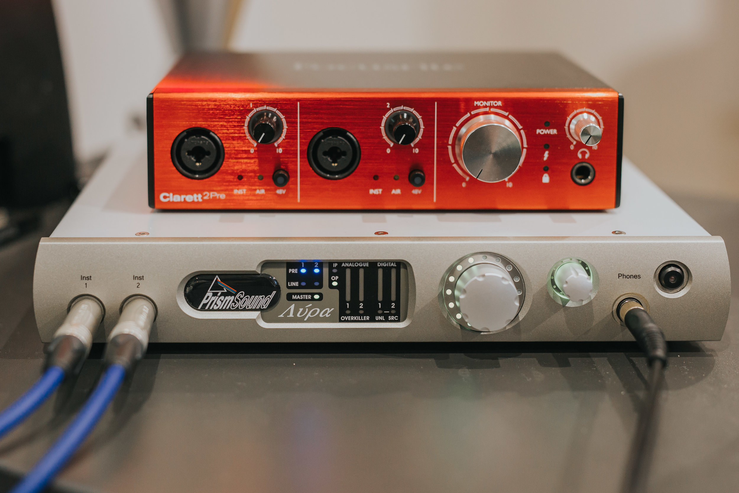Prism Sound and Focusrite Interfaces | The Barn Studio | Photo by Ian Wallman
