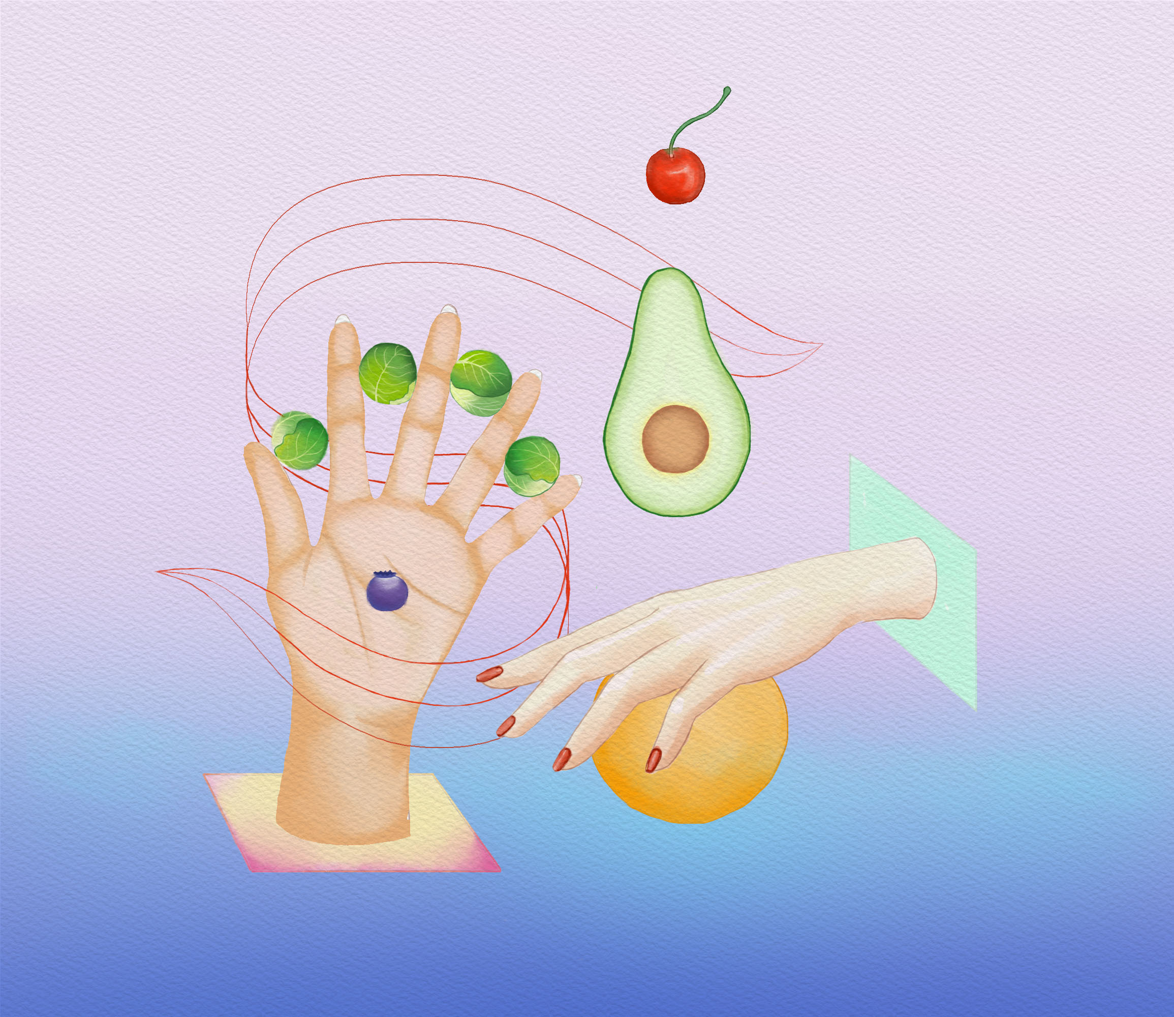 Great Fruits and Vegetables    Personal Illustration