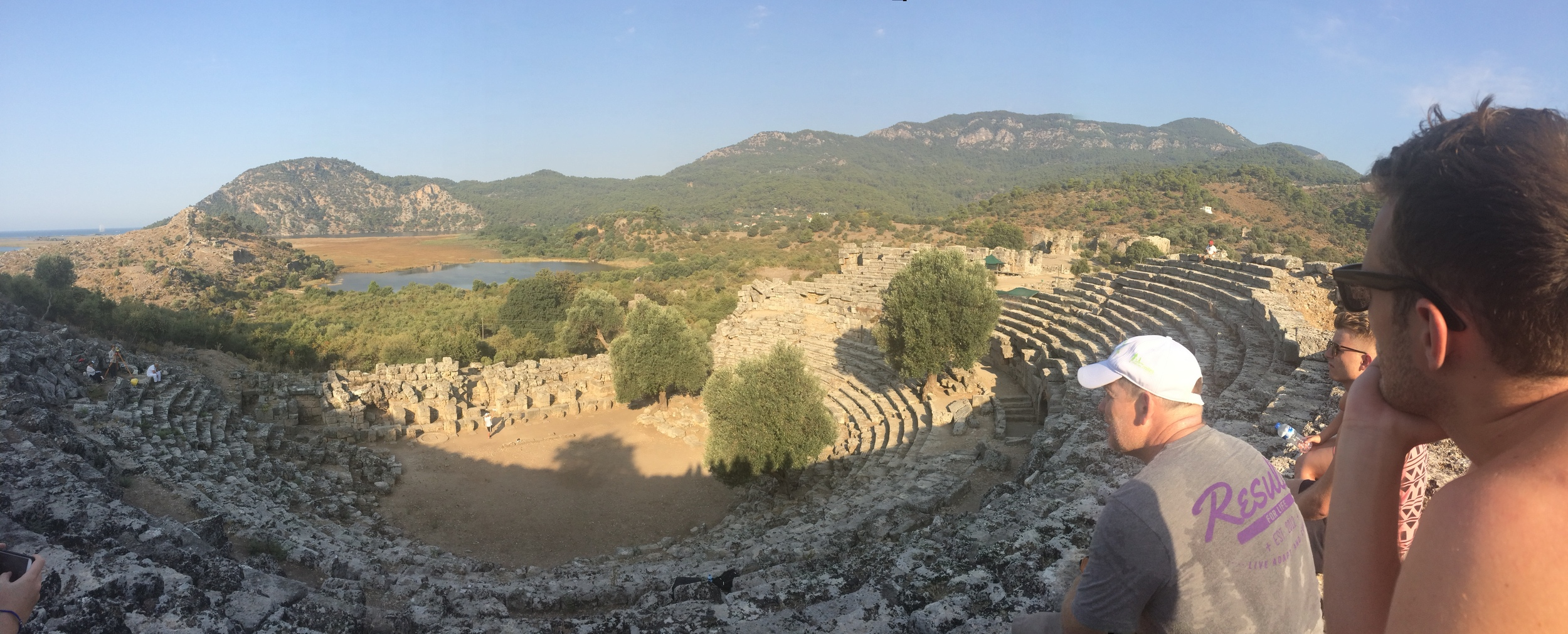 Looking over the amphitheatre, Kaunos.