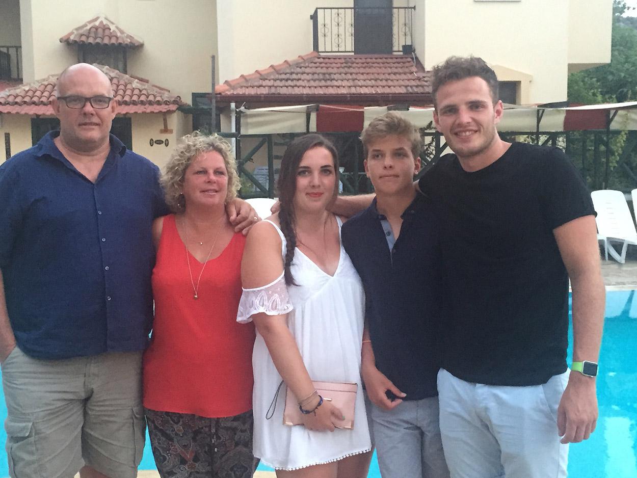 The Varney's - Top: Tim, Sarah, Sophie, Jacob and Dan. Below: Beth