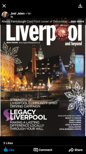 New cover for December's magazine