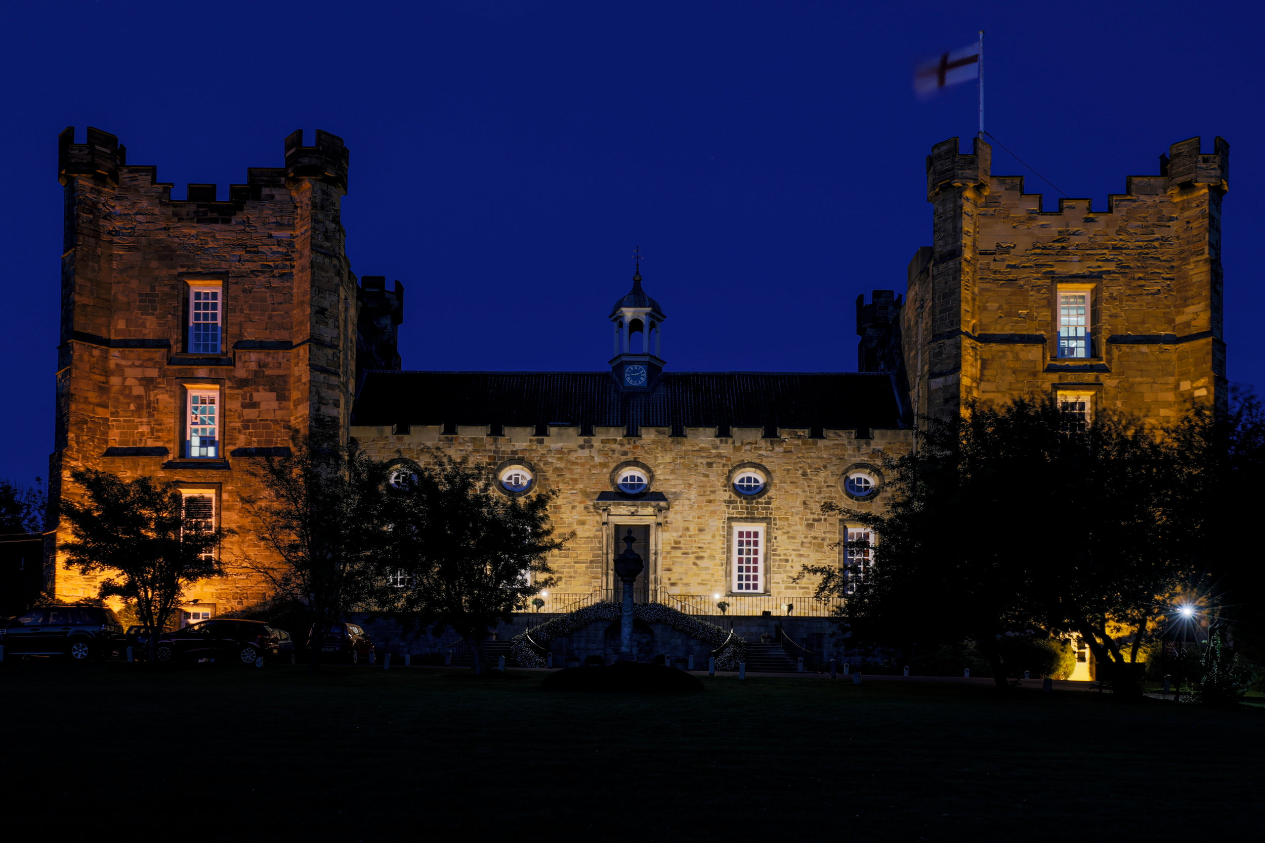 Lumley Castle at night