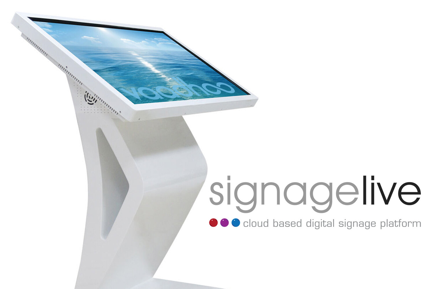 Vaadhoo screens working with Signagelive as a reseller based in Liverpool