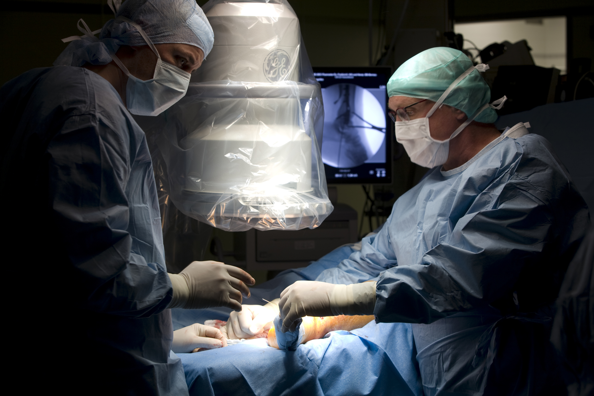 Leg surgery, Hospital Rüdersdorf