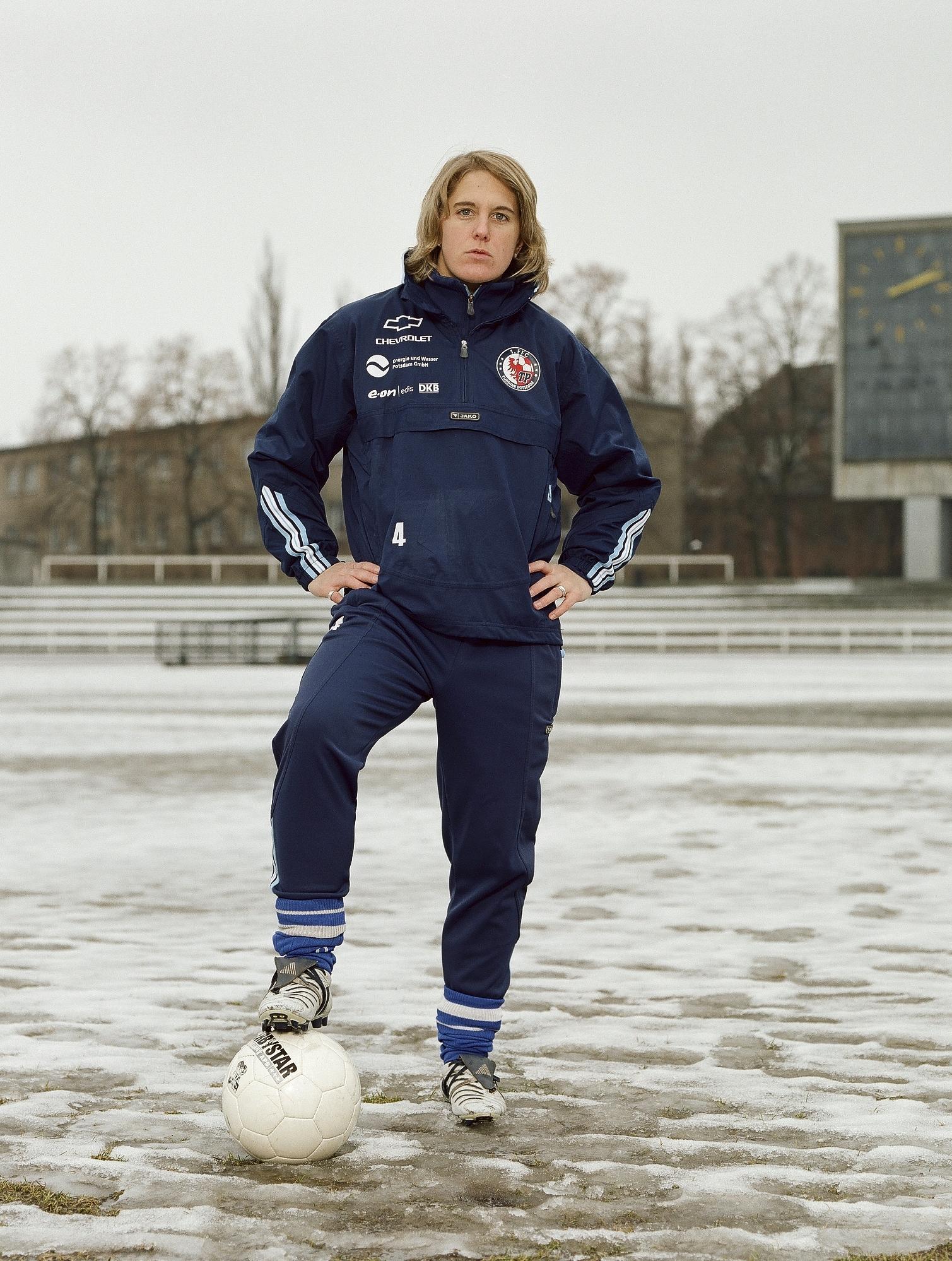 Britta Carlson, player in the German national team, Potsdam