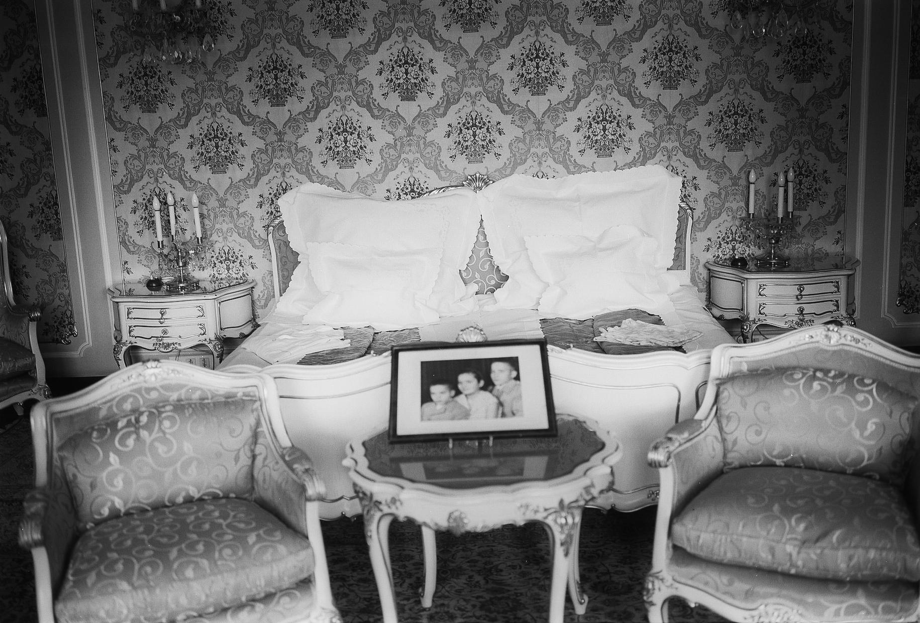 Romania, Ceaucescu´s sleeping room, private house, Bucarest