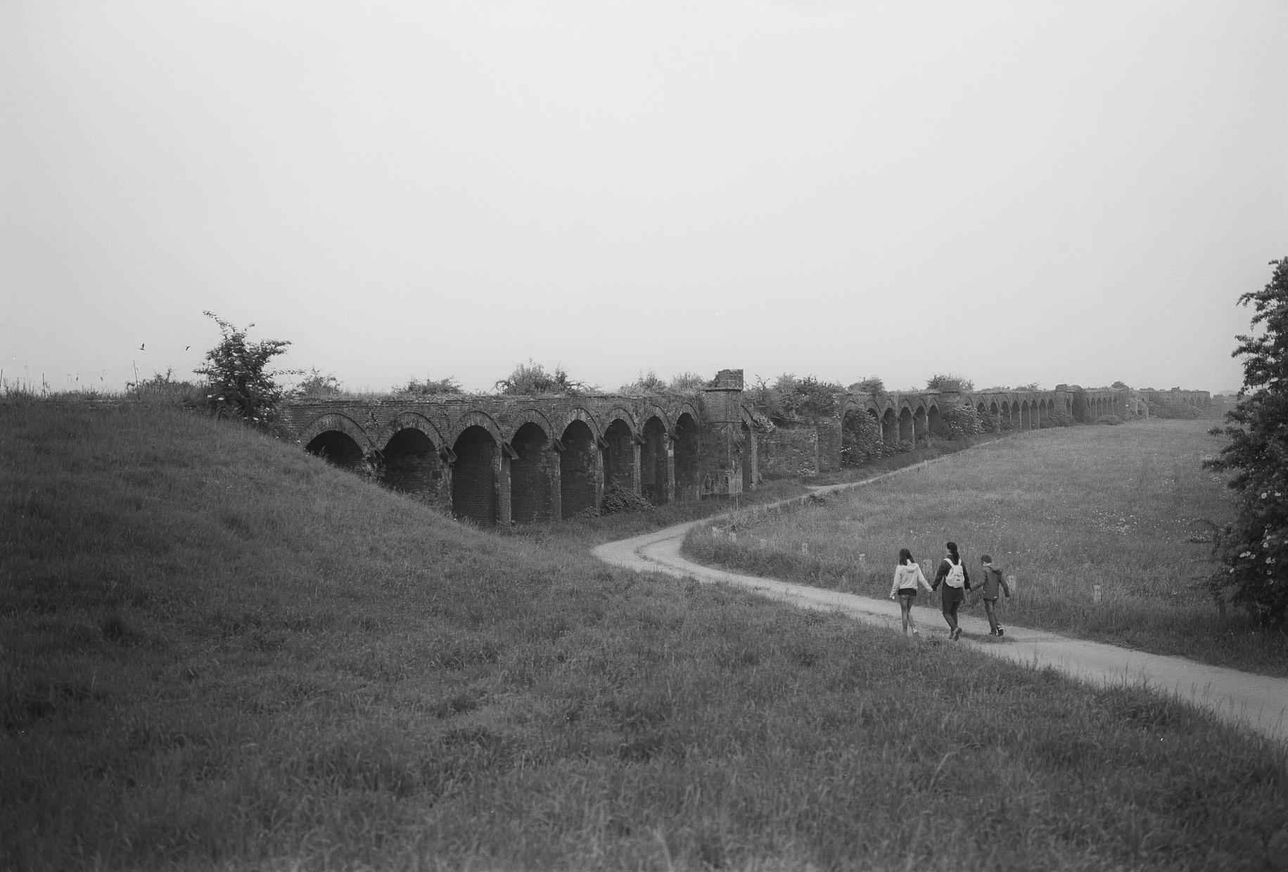 Germany, old Rhine bridge close to Wesel