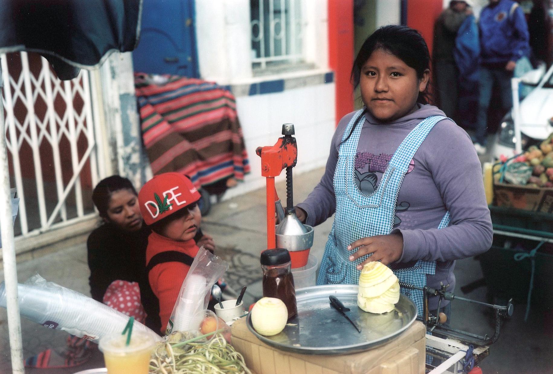 Livania sellig orangejuice, Oruro, Bolivia