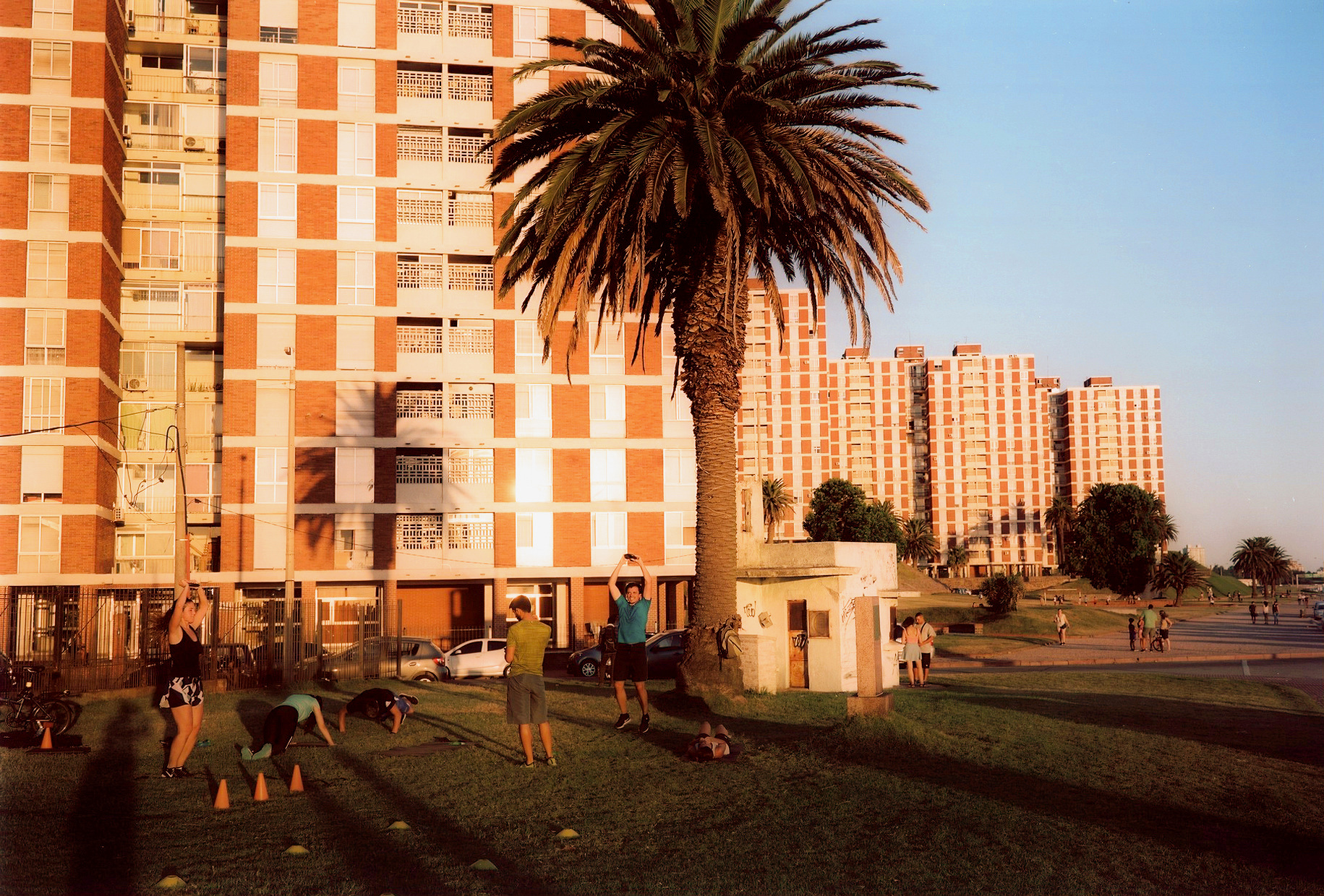 At the malacon of Montevideo, Uruguay