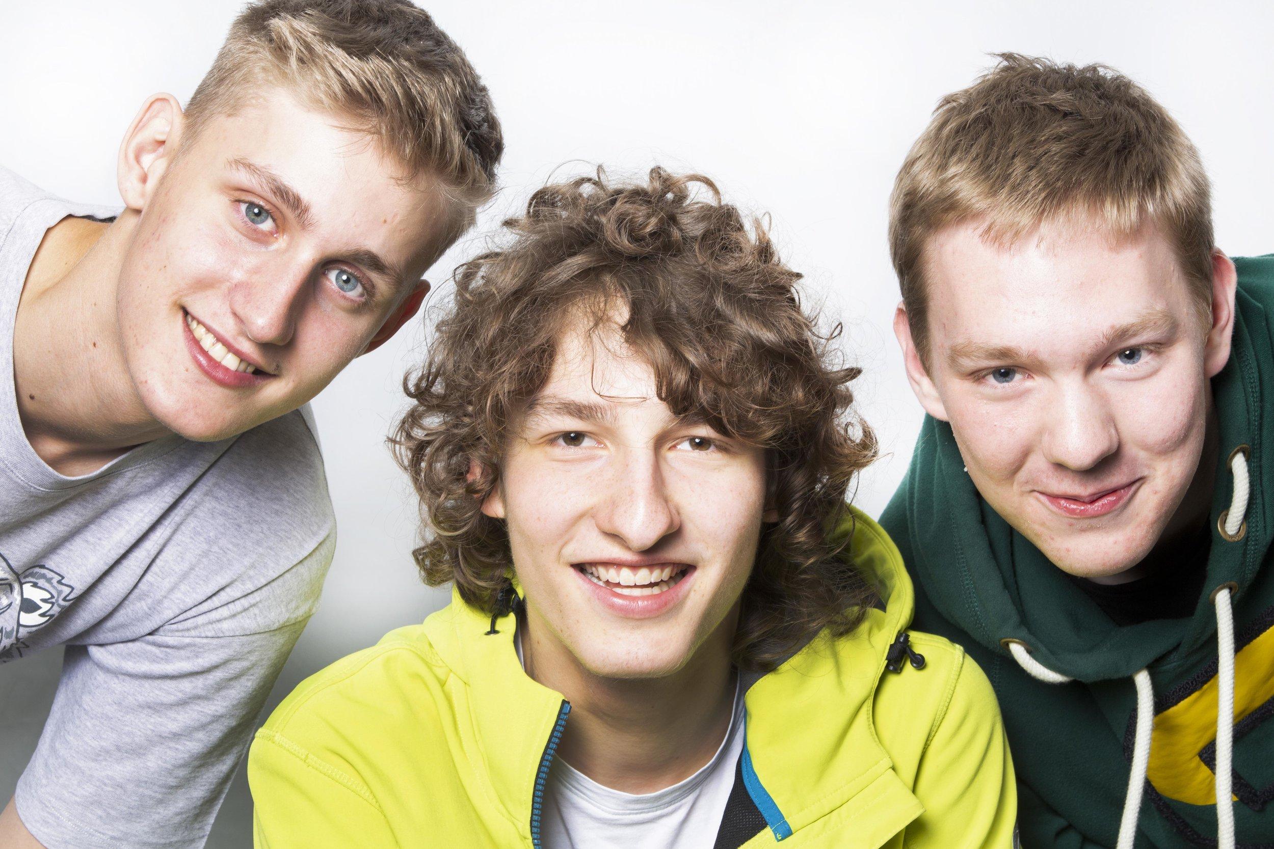 Sebastian, Luca und Christian