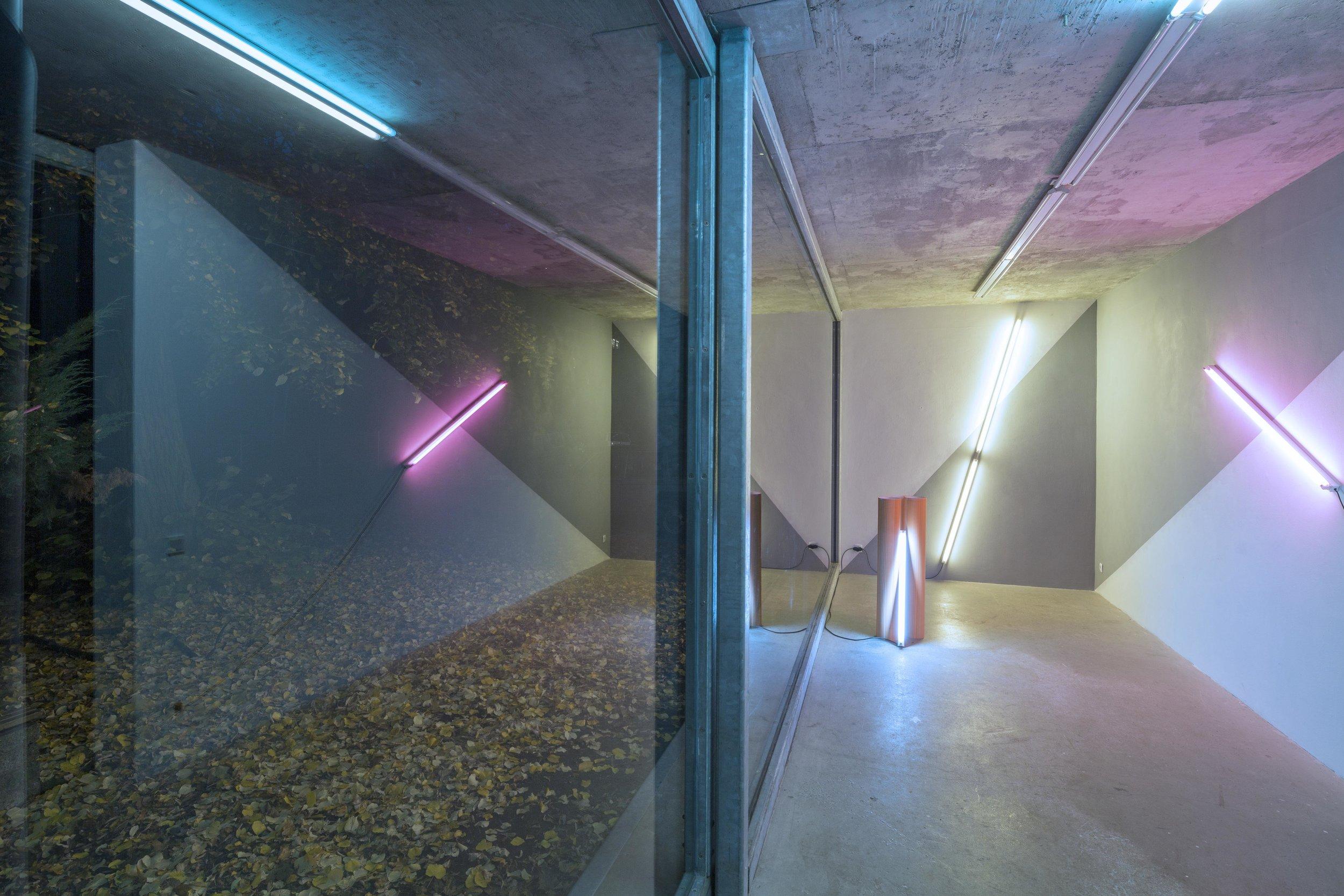 Milchhof Berlin, lightinstallation by Andreas Schmid