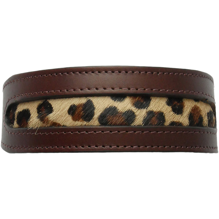 Lee Collar with dark Leopard Pony Hair Insert.jpg