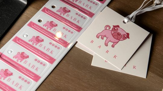 Product tags at Bark, a dog boutique store in downtown Anderson.  (Photo: Ken Ruinard / staff)