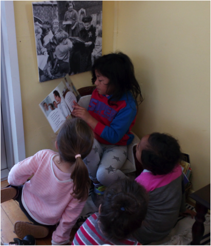Reading to classmates