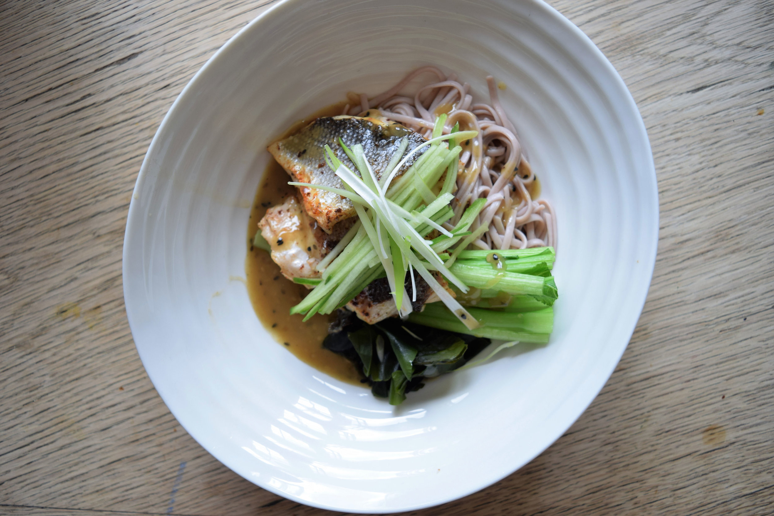 SEA BASS CITRUS NOODLES