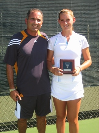 Mallory Burdette with coach and mentor of 10+ years, Nick Saviano