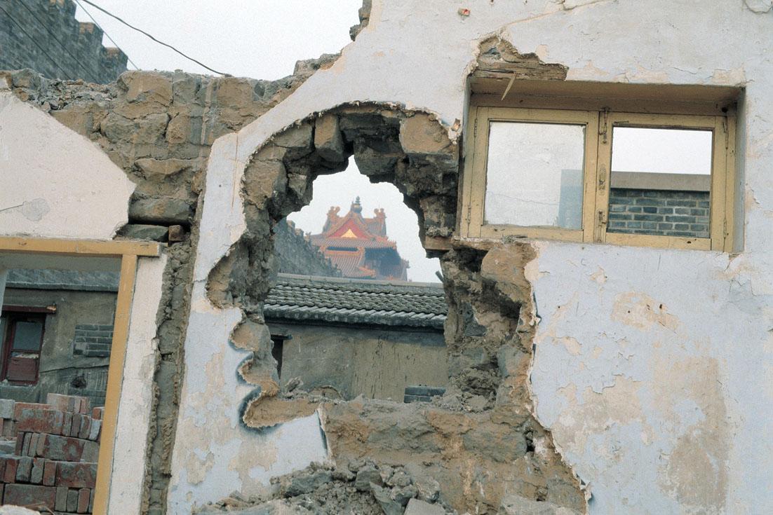 Zhang Dali, Demolition - Forbidden City, C-print 2007