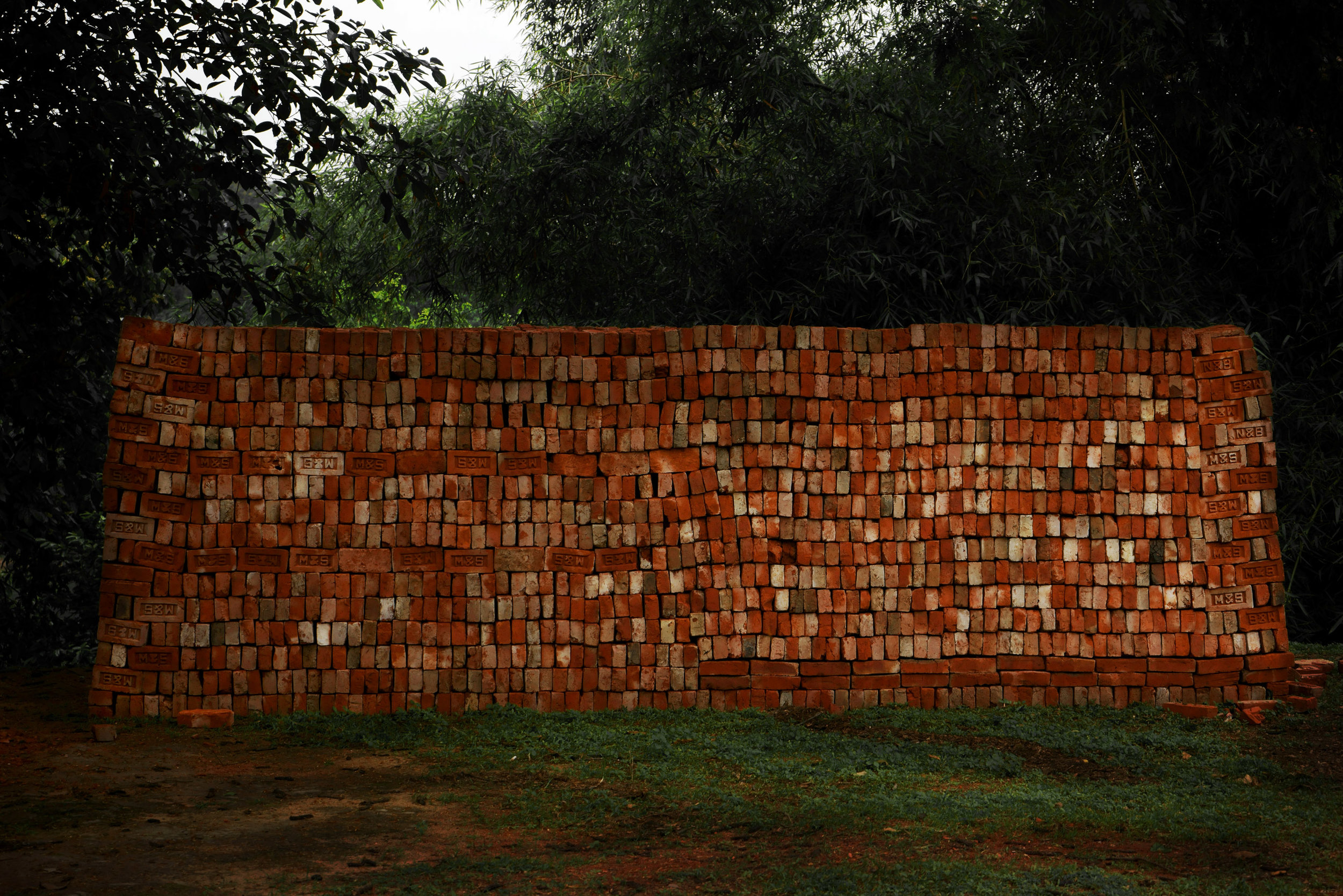 Shen Wei,  Brick Wall,  C-print (Edition of 5 , 2 AP), 2015 (detail)
