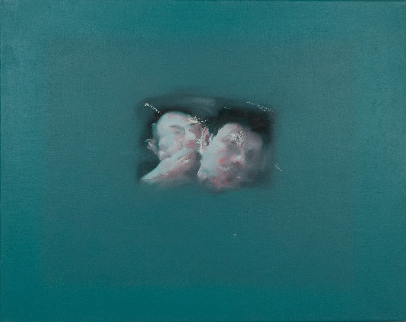 Chen Liangjie, Whisper, Oil on canvas, signed and dated 1997, 65x80cm