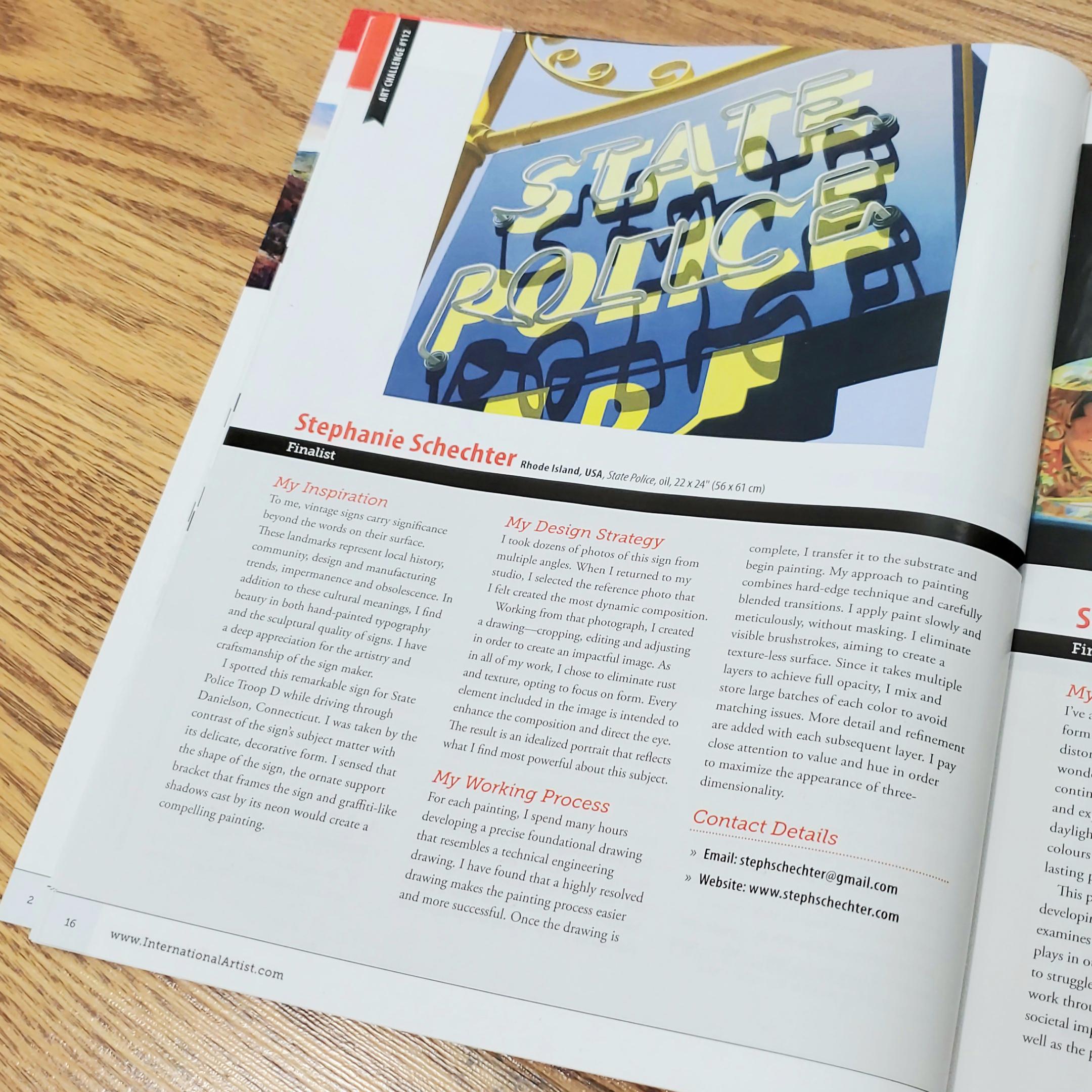 Schechter State Police International Artist Magazine.jpg