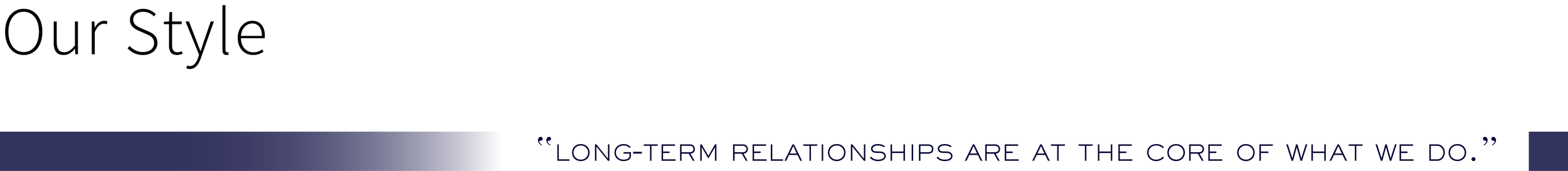 """Bass & Lemer LLP: """"Long-term relationships are at the core of what we do."""""""