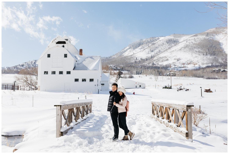 Snowy Utah Engagement Photos
