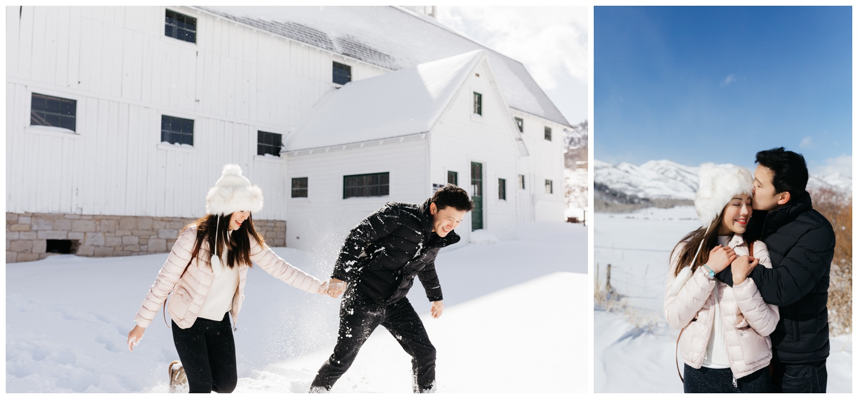 Winter Utah Engagement Photos