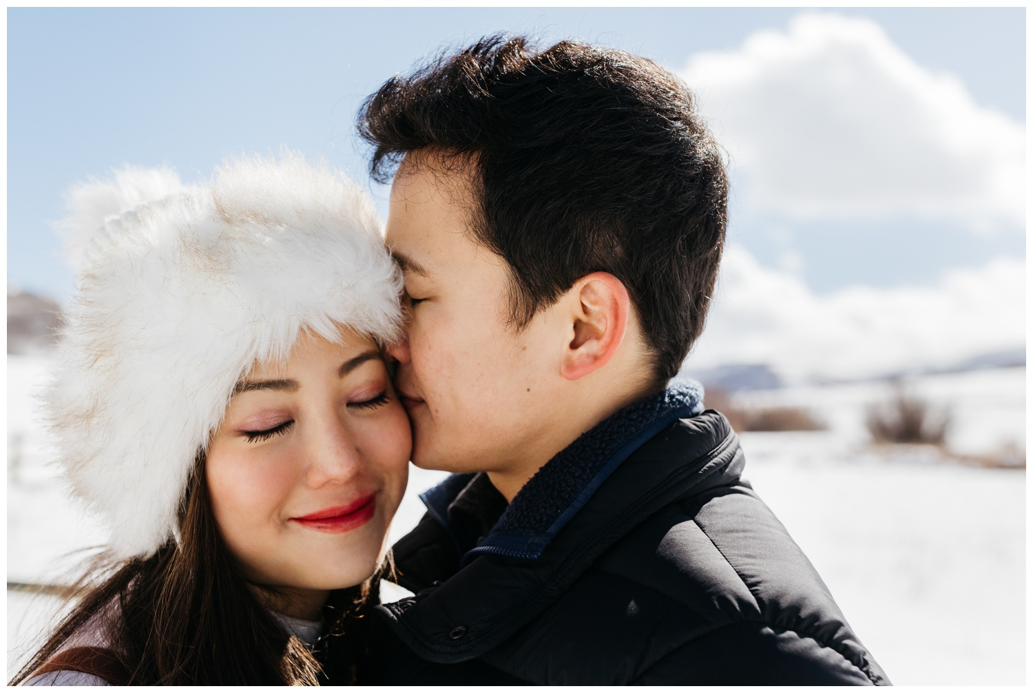 Engagement Photos in Winter Inspiration