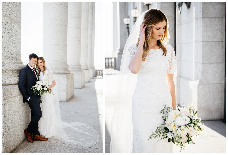 Bridal Portraits Utah State Capitol Building