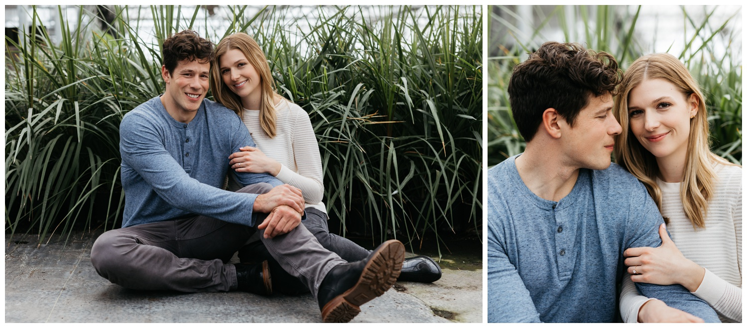 spring engagement garden engagement session