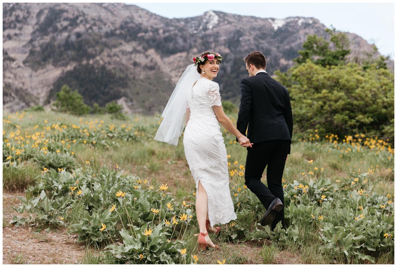 utah mountain wedding portraits