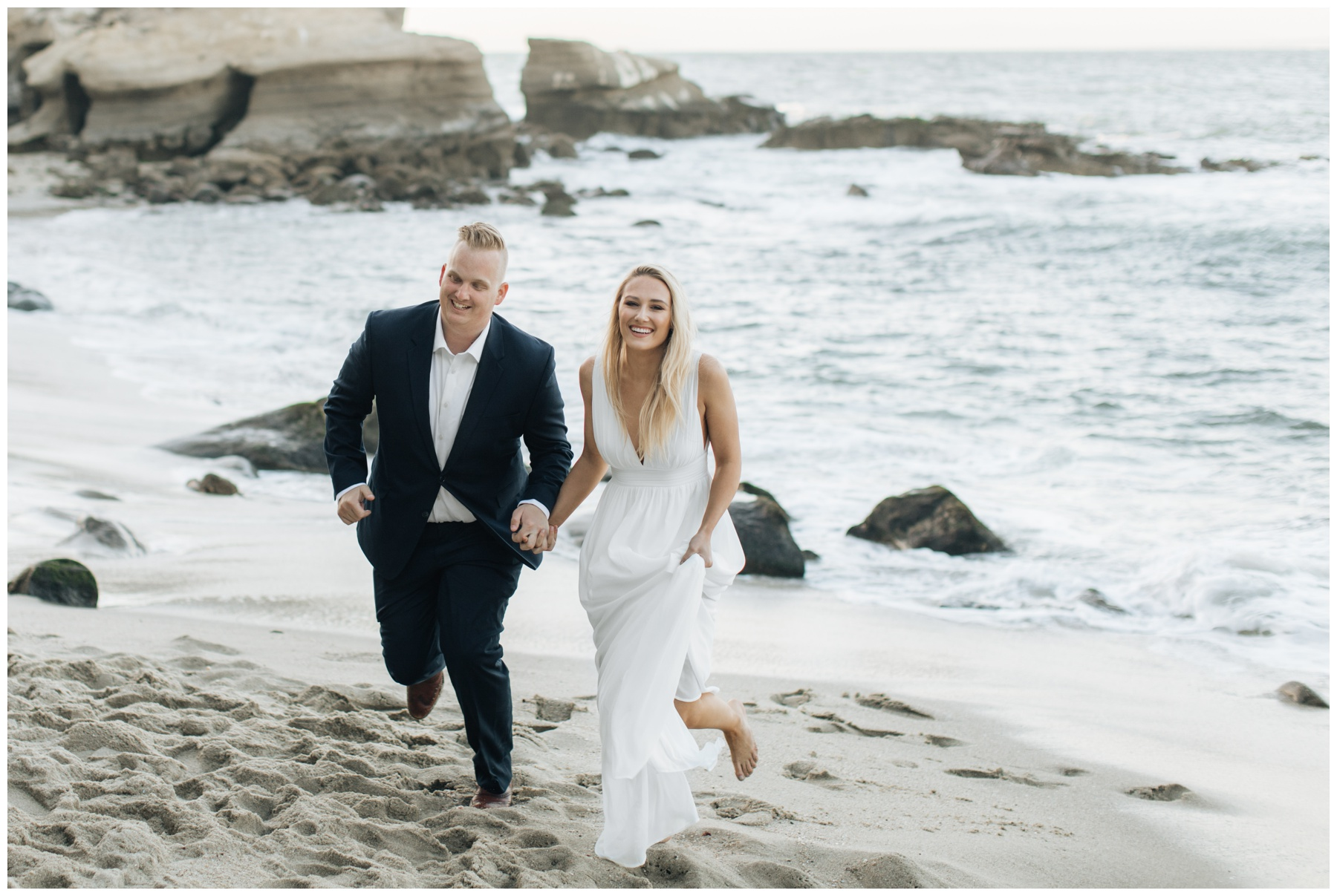 La Jolla California engagement beach session