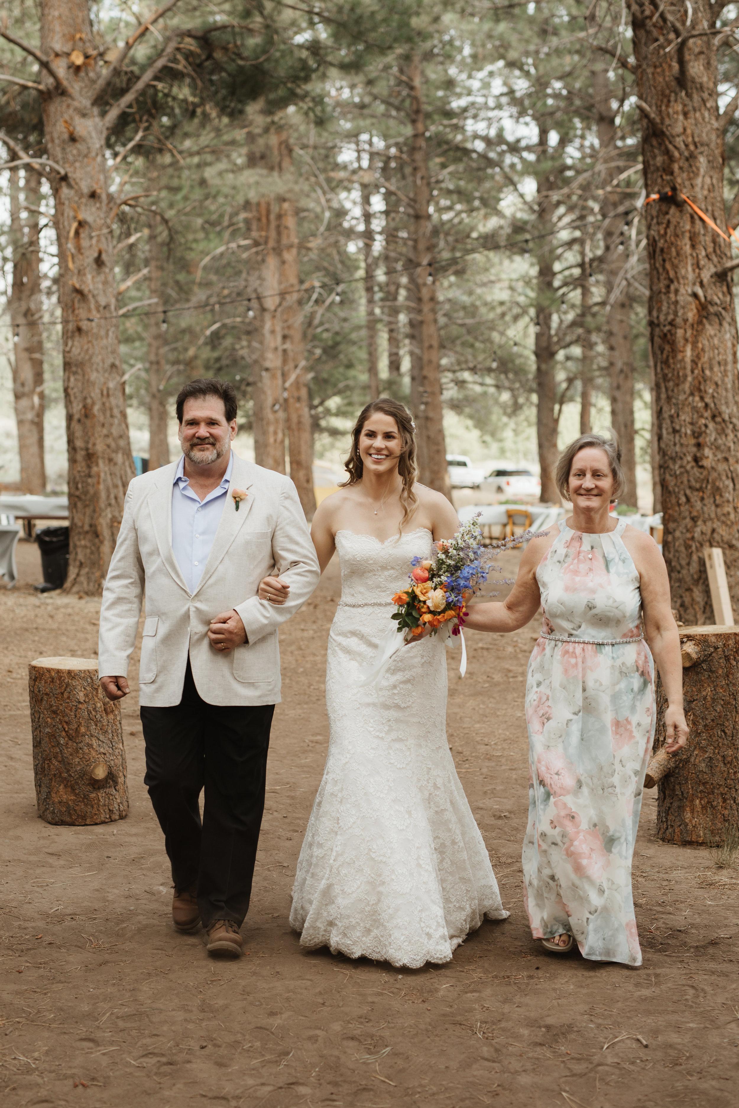 camping wedding utah forest wedding inspiration