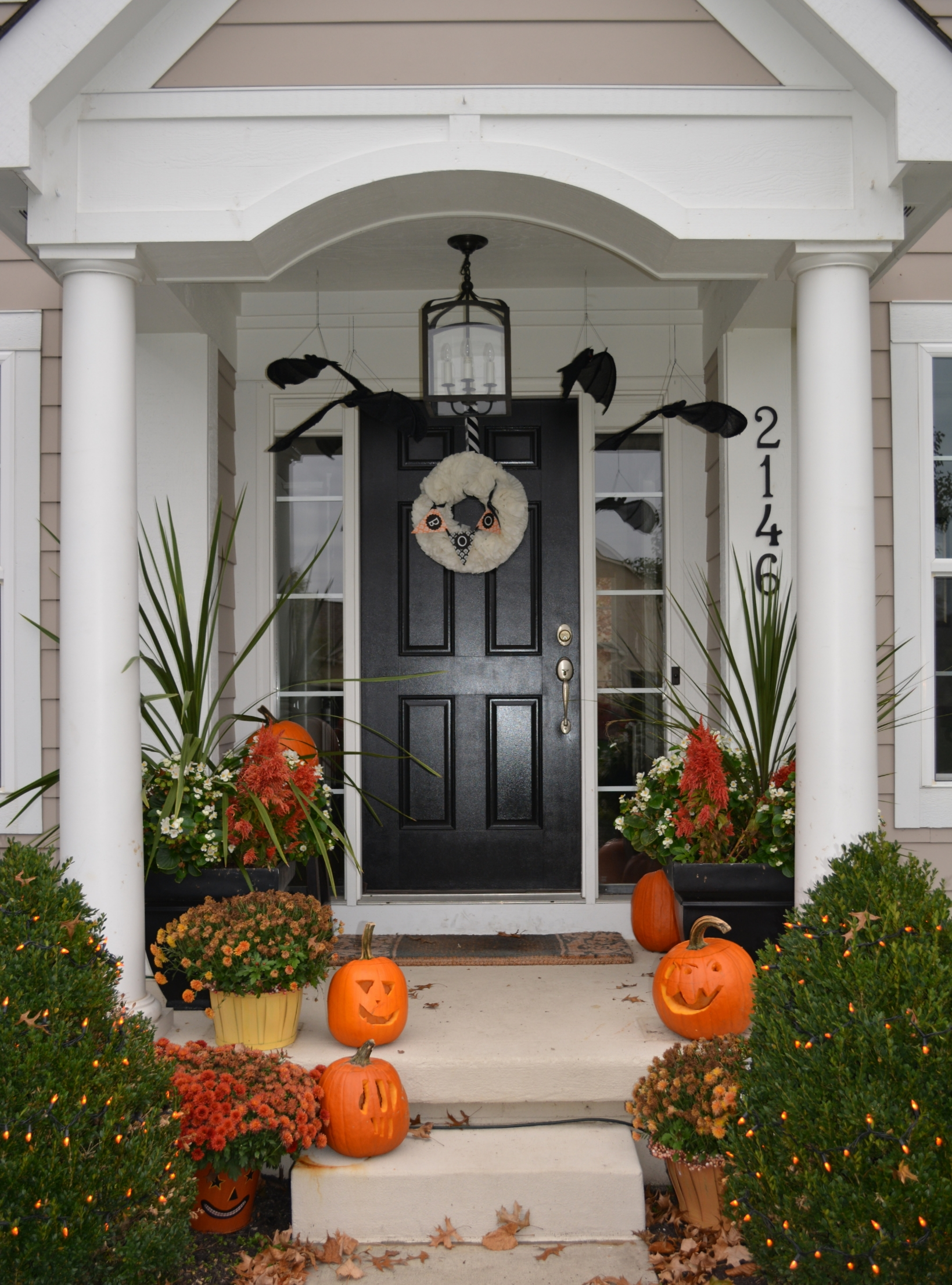 Our home ~ Decorated for Halloween last year.