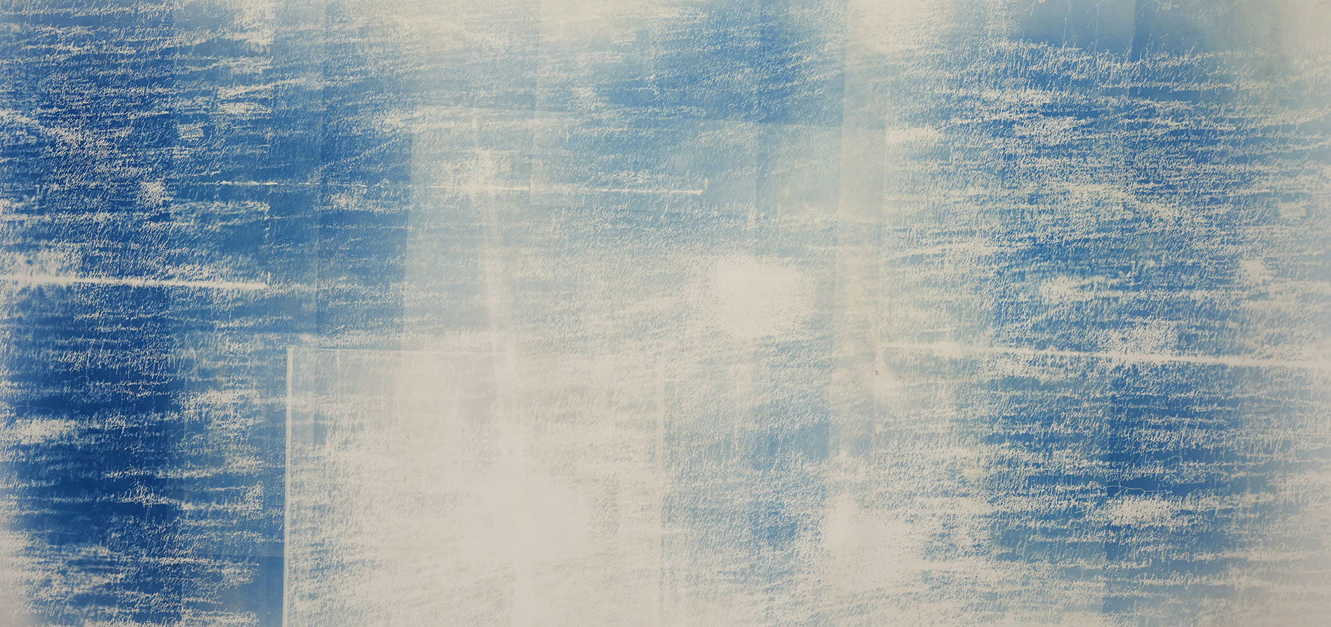"Disintegration Loops 2   Cyanotype on Paper  41"" x 82"""