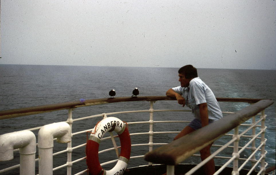Assisted passage, black noddies, SS  Canberra