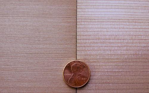 pencil grain cedar compared to typical cedar