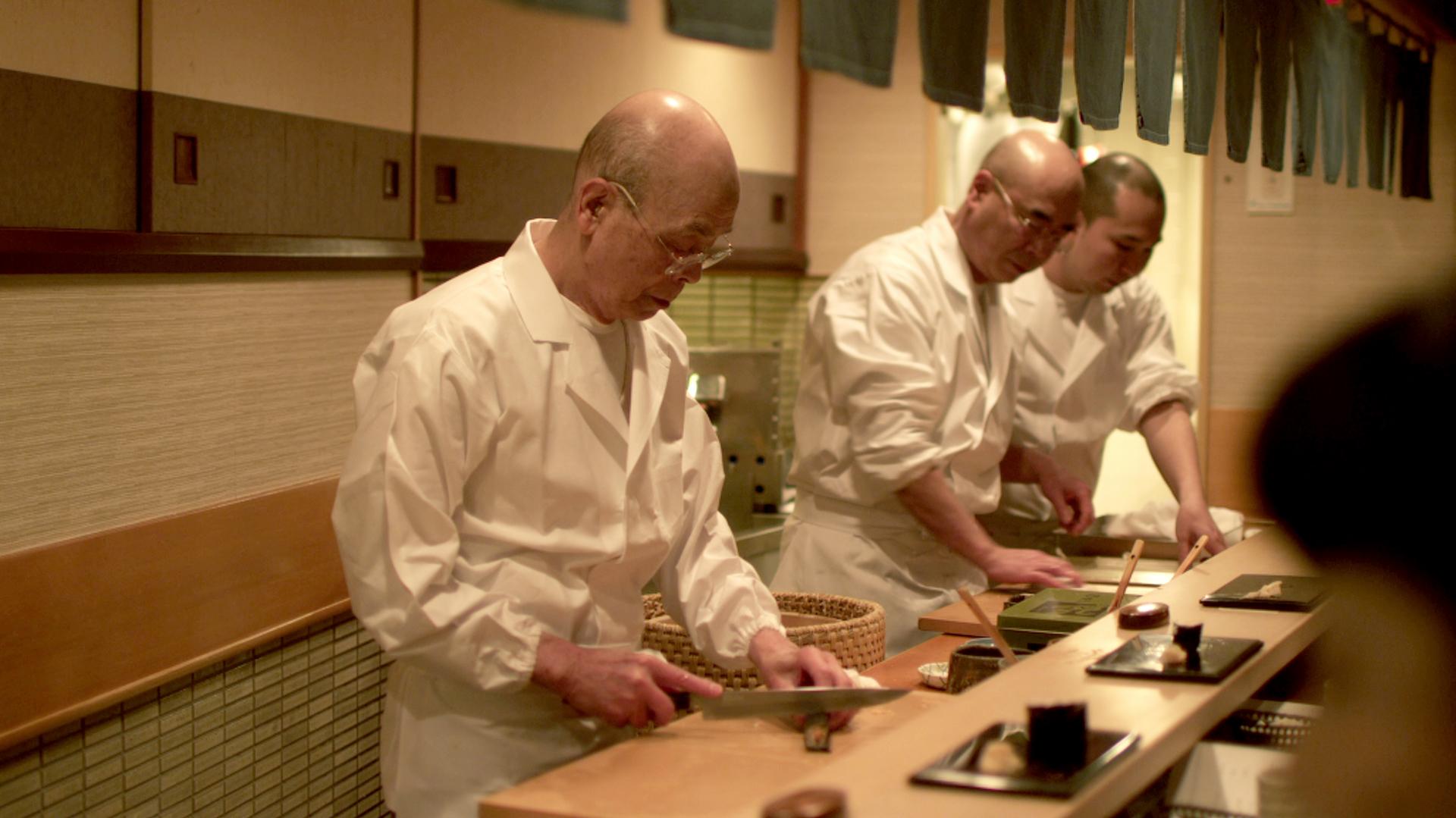 Jiro Ono, 85, and apprentices