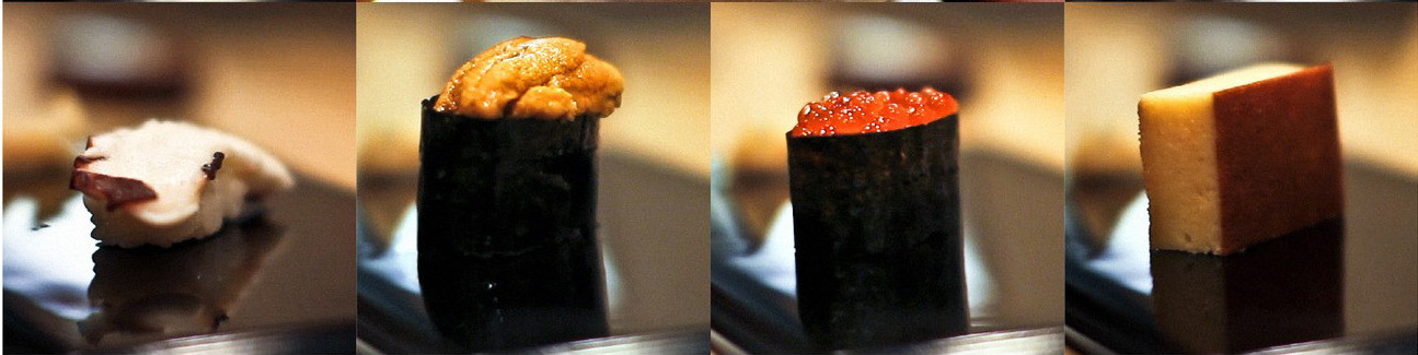 examples of Jiro Ono's sushi