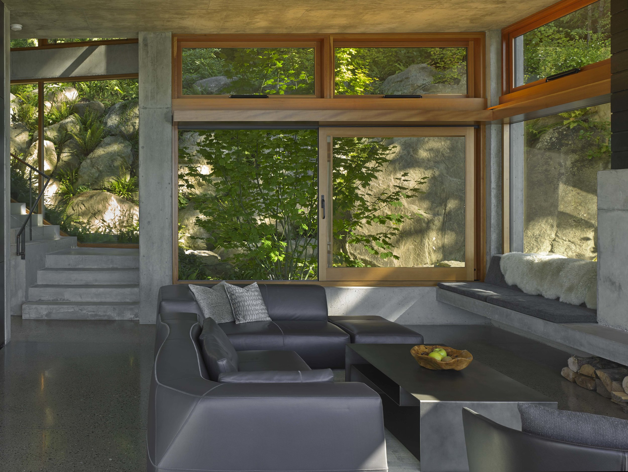 bay house - living room