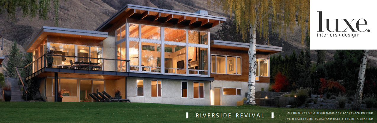 Luxe Magazine features an article on McClellan Architects' River House in their Winter 2010 Issue