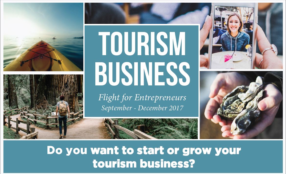 """About the SBDC Tourism Entrepreneurs Flight:    North Coast Small Business Development Center is preparing a special program for tourist-facing businesses in Humboldt County. This """"Tourism Entrepreneurs"""" group learning program will run from mid September to early December 2017.   The Learning Experience:    Participants get three experiences in one:  - Workshops focused on your industry - One-on-one advising with an experienced consultant - Relationships with other tourism entrepreneurs  At the end of the program you'll have a solid business plan, more business know-how, and supportive relationships with SBDC advisors and classmates that last long past the final session. Past participants include several businesses that are now famous and thriving in Humboldt County.    Learn more and apply at  northcoastsbdc.org/tourism"""