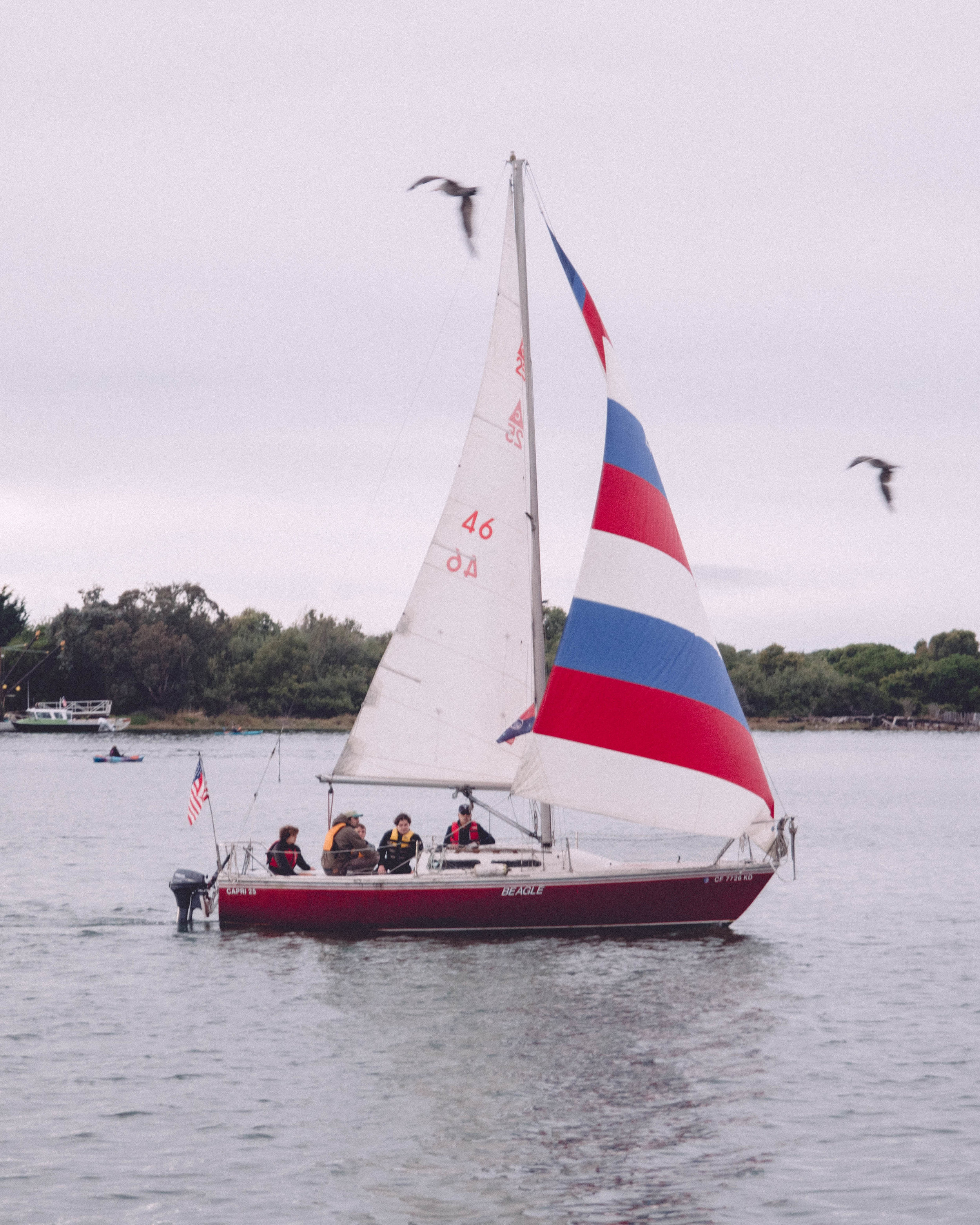 The Humboldt Yacht Club was holding their weekly races during the event